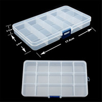 Wholesale new grid plastic Transparent jewel case box I hv3n