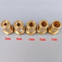 Wholesale 1x Gold Shaft Motor Flexible Coupling Coupler for Wheel tyre DC Motor Robot B00262 SMAD