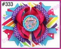 Wholesale fashion quot Inspired Boutique Layered Hair Bow birthday hair bows girl hair clips