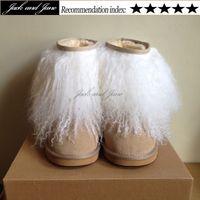 bearpaw boots - Cute Eskimo No bearpaw Womens Furry White Black Pink Mongolian Fur Boots Winter Outside Plus Size Inside Artificial plush