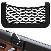Wholesale Unusual Universal Car Seat Side Back Storage Net Bag Phone Holder Pocket Organizer Black