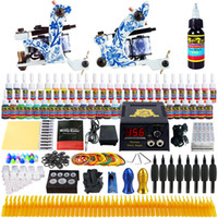 Wholesale Solong Tattoo Complete Tattoo Kit Pro Machine Guns Inks Power Supply Foot Pedal Needles Grips Tips TK262