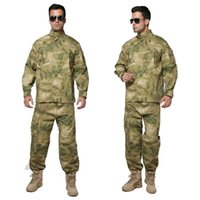 Wholesale A TACS FG Camouflage suit sets Army Military uniform combat Airsoft uniform