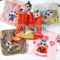 action figure drawing - Zootopia Drawstring Bags Draw Plush Cartoon String Bag Nick Judy Key Gift Bag Action Figure Coin Purse Wallet Candy Card Bag Pouch B324