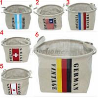 american groceries - American flag Storage Baskets National Flag Laundry Hamper Basket USA Flag Organizer Storage Box Sundry Desktop Case Groceries Tote B325