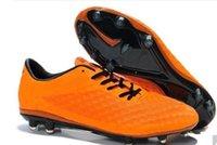 Wholesale New Hypervenom phantom premium FG outdoor soccer shoes sports cleats football shoes Men s high quality chuteira football boots