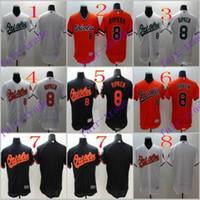baltimore mix - 2016 Flexbase MLB Stitched baltimore orioles Cal Ripken Blank White Black Gray Orange Throwback Baseball Jersey Mix Order