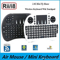 android tablet keypad - Rii i8 Remote Air Mouse Mini Keyboard Combo Wireless G Touchpad Keypad For MXQ M8S Bluetooth Android S905 TV BOX