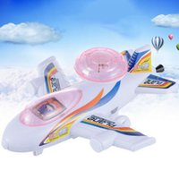 Wholesale baby toy pull line running plane with light shining freeship