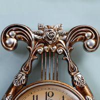 ancient music - The Ancient Music Clock European retro fashion watch mute quartz clock pendulum large living room