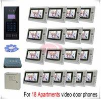 apartment door numbers - Touch room number For apartments video door phones intercom systems support Inductive Card Password unlocking door bells