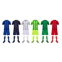 athletic team clothing - 2016 vertical bar Sports wear Athletic Jogging Clothing Kits Running sets Soccer team football Jersey and shorts