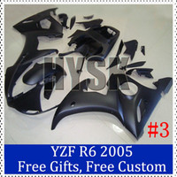 Wholesale Shiny Black fairing kit for Yamaha YZF R6 ABS plastic CowlingYZF R6 Complete fairings with original brand stickers