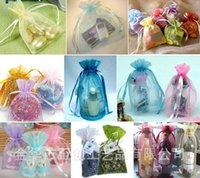 Wholesale Jewelry Bags MIXED Organza Jewelry Wedding Party Xmas Gift Bags Green Purple Blue Pink Yellow Black With Drawstring cm