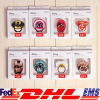 america mount - Batman Ring buckle Phone Cartoon Captain America Ring Holders Cartoon Action Figure Back Degree Remove Mobile Mounts XL P174