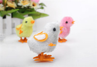 Wholesale Wind up Fluffy Chicken Toys Super Cute Lovely Baby Chick Birthday Gift intelligence development interest cultivation toys for kids