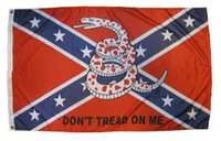 Wholesale 3 x Ft Gadsden Dont Tread on Me Flag Polyester wall banner USA Confederate Rebel Civil War Flag