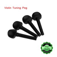Wholesale violin artwork Professional Violin Tuning Peg Set Ebony Wooden Replacement Black Decorated with Pattern for Size Violin set