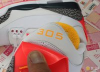 base men shoes - Sole Fly x Air men Retro Basketball Shoes hot mess of reds and yellows on the classic white cement base top quality Sneakers