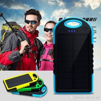 Wholesale Universal Dual USB mAh Solar Charger Solar Battery Panel Waterproof Shockproof Portable Power Bank External Battery For Smart Phones