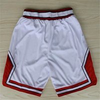 Wholesale Chicago Basketball Shorts Stitched Logo Embroidery New Material Rev Sports Shorts Mix order
