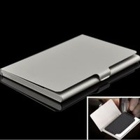 Wholesale 5 Brand New Hot Silver Pocket Business Name Credit ID Card Holder Metal Box Cover Case Gift FG16472