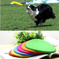 Wholesale 1PCS Pets Dogs Silicone Frisbee Toys Bite Resistant outdoor Interactive tool products supplies for Cute Puppy Love Treats