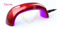 Wholesale Fashionable w Cute Nail Art Gel Nail Lamp Led UV Light Dryer Nail Finger Dry Mini LED Nail Lamp hot Nail dryer With Retail Package