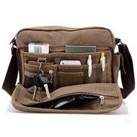 Wholesale Multifunction Men Canvas Bag Casual Travel Bolsa Masculina Men s Crossbody Fashion Bag Men Messenger Shoulder Bags Schoolbag
