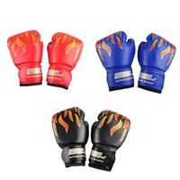 Wholesale SUTEN Children Flame Mesh Palm Boxing Gloves Professional Sanda Boxing Training Glove Breathable PU Leather MMA Flame Gloves