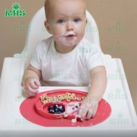 baby food mat - Happy Mat Baby MealMat Silicone Feeding placemat grade silicone food bowl for child feeding training school Silicone Happy Placemat for kids