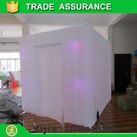 Wholesale m party decoration inflatable photobooth cube tent