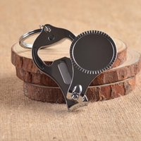 Wholesale Multifunction nail scissors Beer Opener Keychain Nail Tools Nail clippers key chain