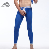 Wholesale New Cotton Bottomless Men s Body Long John Pant Front Open Thermal Long Johns Underpants for Men On Sale QKU2016