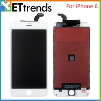 Wholesale NO Dead Pixel LCD Screen for iPhone LCD Display Touch Digitizer Complete Screen with Frame Full Assembly Replacement DHL Free Ship