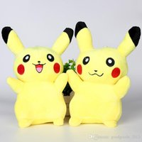 Wholesale DHL cm inch Pikachu Plush dolls Poke plush toys cartoon poke Stuffed animals toys soft Christmas toys best Gifts b810
