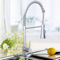 Wholesale Goplus Chrome Kitchen Bath Spring Pull Out Faucet Single Hole Mixer Water Tap
