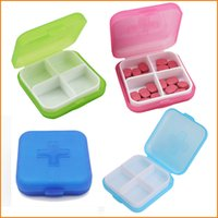 Cheap 4 Slots 4 Slots Cross Pill Cases Best   Travel Plastic Medicine Storage Box
