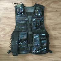 Wholesale Hot selling quality Multifunction Camouflage Combat Tactical Vest Airsoft Paintball Training Protective Uniform Outdoor tactical vest