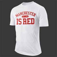 aed brands - Manchester Is Aed Letter Print Man T Shirt United Kingdom Football Team Sport Men Shirts Fitness Brand Clothing Camisa Tees AMD261