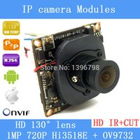Wholesale HI3518E OV9732 P MP wide angle mm X mm size IP Camera Main board module DIY IP camera or for repair replacement