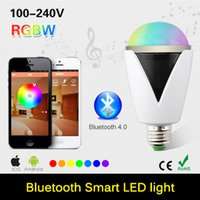 audio spotlight - E27 W LED Bulb Wireless Bluetooth Audio Speaker RGBW Lampada Led Lamp Light Music Playing Lighting For iOS For Android