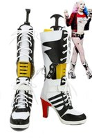 batman spikes - Batman Suicide Squad Harley Quinn Cosplay boots woman shoes