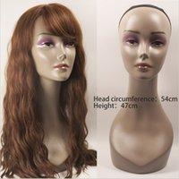 Wholesale Realistic Female Mannequin Head For Wigs Hat Sunglass Display Stands Manikin Head Women Makeup Mannequin Head for Sale