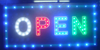 animated running - 20pcs direct selling custom led screen signs X19 inch semi outdoor Animated Running led open sign
