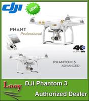 Acheter 4k uhd vidéo-DJI Phantom 3 Drones professionnels Drums UHD 4K Vidéo Appareil photo photo 12 mégapixels Live HD View Positionnement de la vision pour le vol intérieur