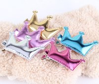 Wholesale Cheap Price Baby Hair Accessories Sweet PU Star Crown Baby Girls Hairpins Grips Kids Barrette Novelty Lovely Baby Hair Clip
