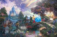 Wholesale Thomas Kinkade Landscape Oil Painting Reproduction High Quality Giclee Print on Canvas Modern Home Art Decor TK077
