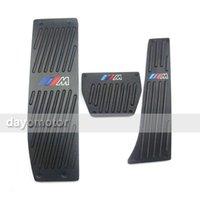 Wholesale Non slip Black Silver Car pedals ALUMINUM M Fuel Brake Footrest Pedals FOR BMW AT MT type X1 E30 E36 E46 E87 E93 E90