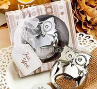Wholesale Alloy stainless steel Owl Bottle Openers Wedding Favors wedding supplies gift box cheap Practical pieces to sell unique wedding favors